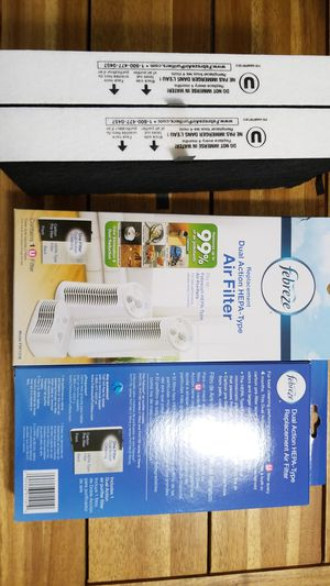 Febreze Replacement Dual Action HEPA Type Air Filter Model FRF101B Brand new - 4 Filters Included for Sale in SeaTac, WA