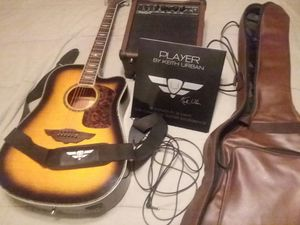 Keith Urban Player Guitar Bundle for Sale in Traverse City, MI