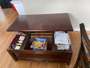 Cherry Wood Coffee Table. Expanding top. for Sale in Edison, NJ