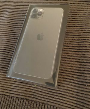 new apple iphone 11 pro max midnight green unlocked fully paid works all carriers never opened for Sale in Fremont, CA