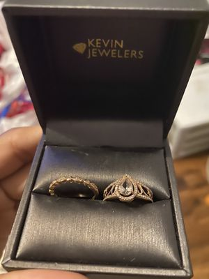 Engagement Ring rose gold and monzonite and diamonds 6.5 to 7 for Sale in Ontario, CA