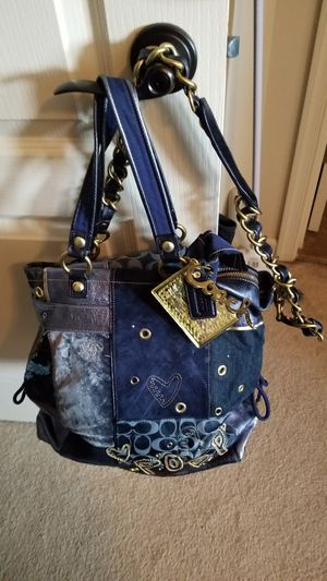 Limited Edition Coach Poppy Blue Suede and Denim Bag for Sale in Baltimore, MD