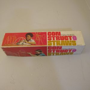 Constructo Straws Building Set Parker Brothers Vintage 1974 for Sale in Missoula, MT