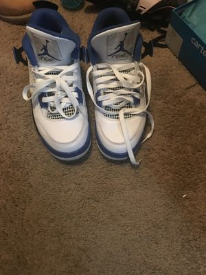 Like new Jordan flight 4, White, blue and black, in perfect conditions for Sale in Baltimore, MD
