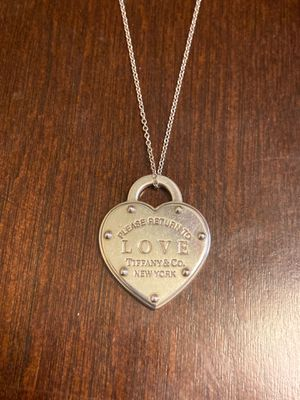 Tiffany and co heart tag pendant with chain for Sale in Chula Vista, CA