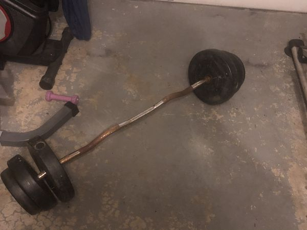 1 inch curl Bar 60 pounds of weight