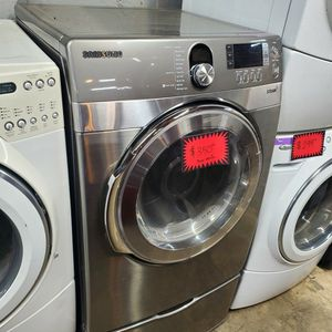 Samsung Front Load Electric Dryer With Pedestals Working Perfectly Four Months Warranty for Sale in Baltimore, MD