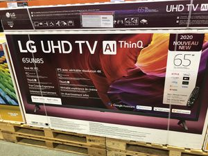 LG 65 inch 4K TV 2020 model of 120 Hz 65un8500 for Sale in South Gate, CA