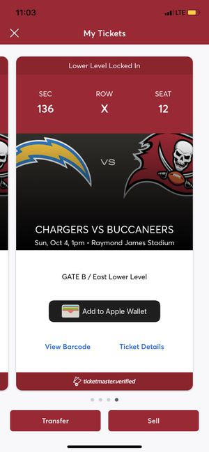 Buccaneers Tickets for Sale in Riverview, FL