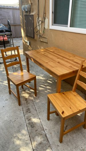 Wooden dining table & 4 chairs (ikea) for Sale in San Diego, CA