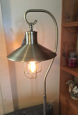 Floor lamp. Brushed gold finish, caged Edison bulb for Sale in Columbus, OH