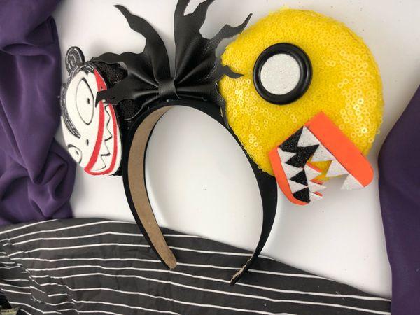 Vampire Teddy and Scary Duck Disney Ears