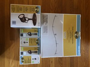 Track lighting kit with 5 lights by Hampton Bay for Sale in Redlands, CA