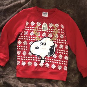 New Boys Size 7 Christmas Sweater with Snoopy for Sale in Fontana, CA