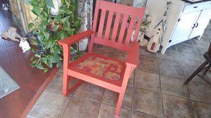 Red antique wood rocker for Sale in Bonaparte, IA