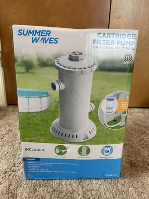 Cartridge Filter Pump For Above Ground Pool for Sale in Harrisonburg, VA