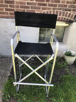 Aluminum high director chair great for selling at events for Sale in Baltimore, MD