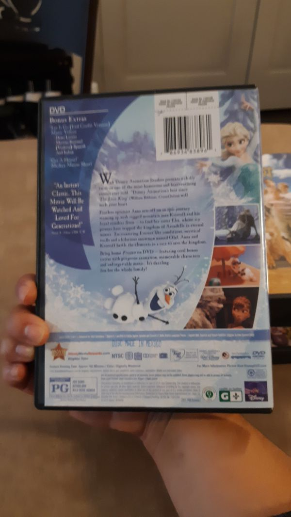 Frozen Movie, DVD's for Sale--Various movies for kids & family, All in Great condition, Great Buy!!!