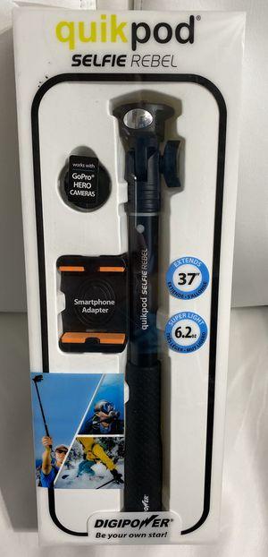 "Digipower - TP-QPRBL Quikpod Selfie Rebel 37"" Support System - Selfie Stick - Black for Sale in Naples, FL"