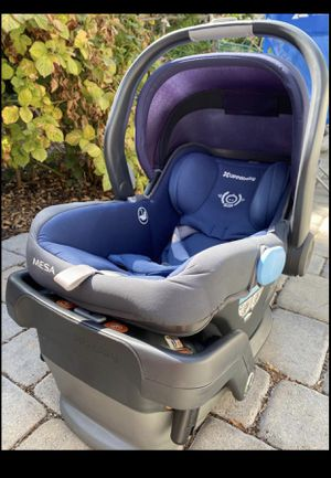 Mesa Uppababy Car seat + base + baby insert for Sale in San Jose, CA