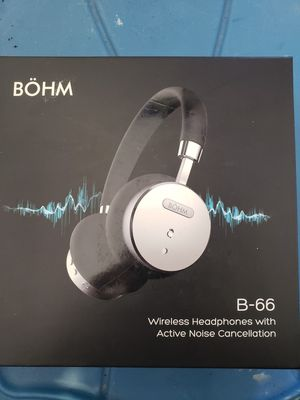 BÖHM Wireless On-Ear Noise Canceling Headphones Black Silver BOHM B66 Brand new! for Sale in Safety Harbor, FL