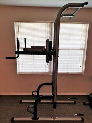 Power Tower with Push-up, Pull-up and Workout Dip Station for Home Gym Strength Training for Sale in Staten Island, NY