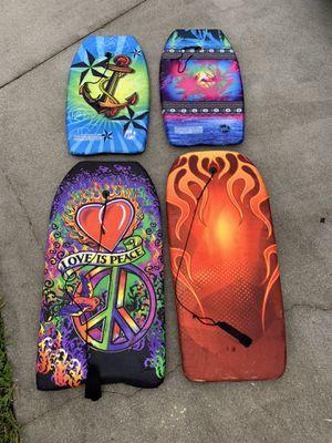 Set (4) boogie boards / body boards $10 each for Sale in Davie, FL