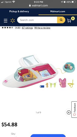 Barbie boat with puppies and accessories for Sale in Portland, OR