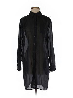 Black Extra Long Button Shirt Dress for Sale in Douglasville, GA