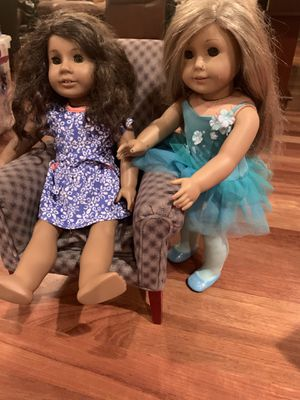 American Girl's and back grounds also AG chair for Sale in Portland, OR