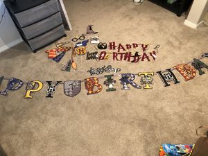 Harry Potter birthday decorations for Sale in Tacoma, WA