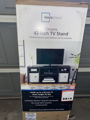 42 Inch TV Stand ( Holds up to 50 inch tv) -Black for Sale in Gilbert, AZ