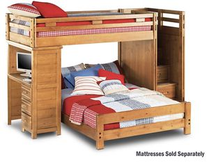 Twin-full bunk bed with desk for Sale in Dearborn, MI