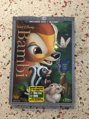 Bambi blu Ray dvd new Sealed for Sale in Fort Lauderdale, FL