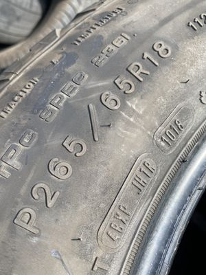 265/65/18 Goodyear Wrangler (4 Tires) $100.00/ All 4 for Sale in Mission Viejo, CA