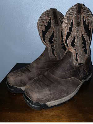Ariat Men Preowned Textile Western Composite Toe Boot Size 13D for Sale in San Diego, CA