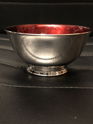 """Antique Paul Revere Reproduction WM A. Rogers 4"""" sterling silver with red enamel for Sale in Littleton, CO"""