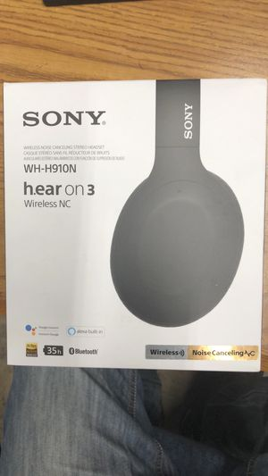 Sony h.ear on 3 Wireless Noise Canceling Headphones Black WH-H910N for Sale in Columbus, OH