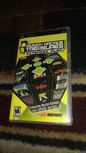 MIDWAY ARCADE TREASURES - EXTENDED PLAY - SONY Playstation PSP video game for Sale in Stockton, CA