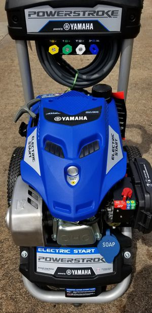 New Powerstroke Yamaha 3100 psi 2.4 gpm electric start pressure washer for Sale in Houston, TX