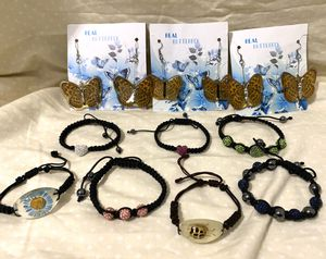 Lot of 7 Mixed Bracelets & 3 Pair Of Butterfly Earrings - Take A Look - Pick Up Today! (Firm Price) for Sale in Carrollton, TX