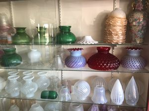 Antique Cranberry Glass Shades & Vintage Glass Shades for Sale in Anaheim, CA