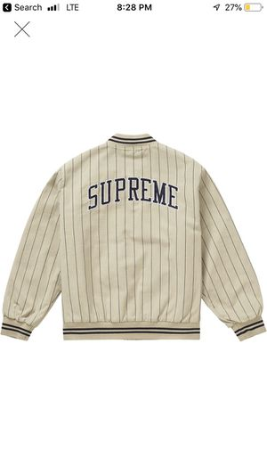 Supreme varsity pinstripe TAN for Sale in Moon, PA