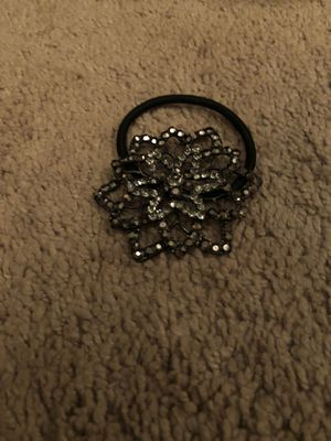 Silver Flower Hair Tie for Sale in Crystal Lake, IL