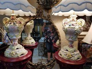 Capodimonte pair of lamps for Sale in Miami, FL