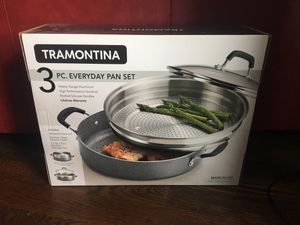 Tramontina 3pc pan set NEVER USED for Sale in Fairway, KS