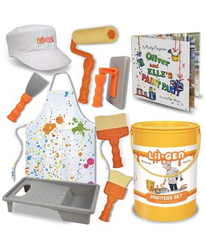 Gen Painter's Tool Set Plus Book - Pretend Play Toddler Toys for Kids Age 2-4, Includes Cap, Apron, 7 Painter Tools and Storage Paint Bucket for Sale in Hoover, AL