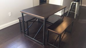 Dining table with benches for Sale in Baltimore, MD