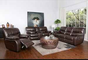 Madrid Complete Sofa Loveseat Recliner chair set for Sale in Orlando, FL