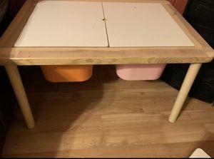 $40 Kids desk/table with storage bins for Sale in Schaumburg, IL